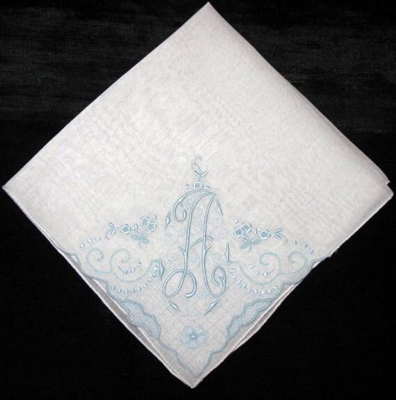 embroidered hankie wedding hankerchiefs hankie by