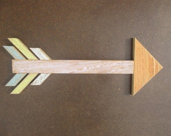 Pastel rustic wooden arrow