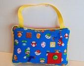 Mario Bros Tooth Fairy Pillow , Super Mario Bros Decor , Boys Tooth Fairy Pillow , Hanging Pillow , Personalized Pillow