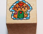 Small Ginger Bread House Rubber Stamp from Michaels Stores