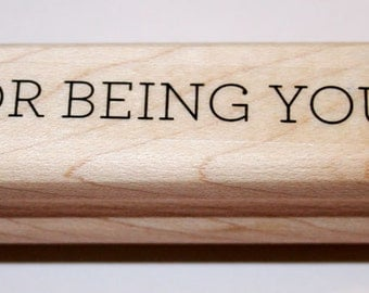 For Being You Rubber Stamp from Stampin Up