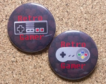 "Retro Gamer 1.75"" Button Set"