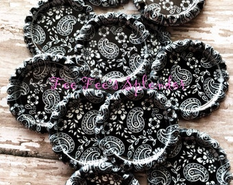 "Flattened bottlecaps Damask Paisley - DIY hairbow center -* 25 mm 1""  Flattened bottle cap"