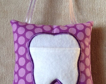 Personalized ToothFairy Pillow , customed toothfairy pillow, tooth pillow