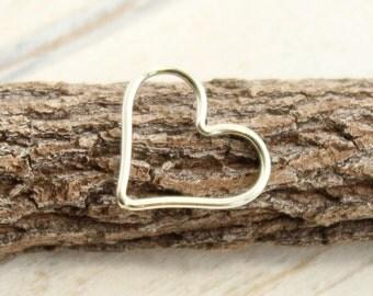 Sterling Silver Heart Link -- 1 Piece... HBS1115 Medium