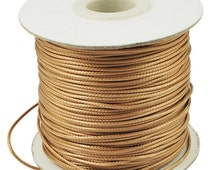 3 Yards Goldenrod Waxed Polyester Faux Leather Cord 1mm