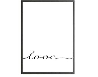 love italic art print