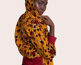 Jaho African Print Hoodie