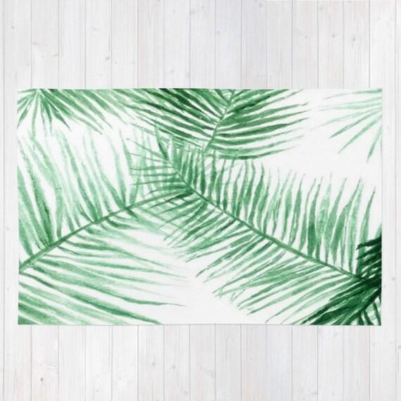 palm leaf area rug palm leaves rug palm leaf rug modern. Black Bedroom Furniture Sets. Home Design Ideas