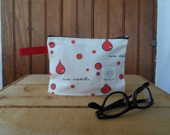 Cure Diabetes - zipper pouch