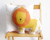 Lion soft toy, stuffed pillow, Decorative cushion, Children pillow, kids toys baby toy, nursery toy, pink room deco, stuffed lion, soft lion