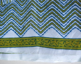 Pure Soft Cotton Zigzag Chevron Print Fabric Sold by Yard