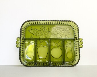 Indiana Glass Co (USA) five-part relish platter