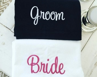 Bride & Groom SET- Perfect Wedding Gift -Towels are Available in 7 colors