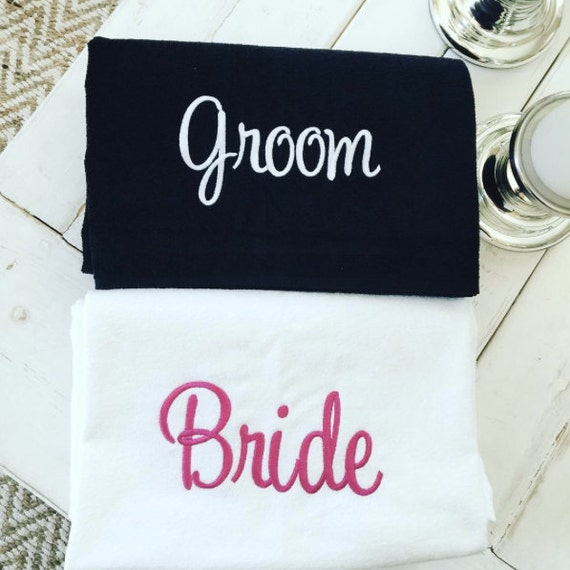 Perfect Wedding Gift For Bride And Groom : Bride & Groom SET- Perfect Wedding Gift -Towels are Available in 7 ...