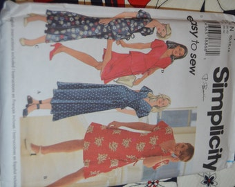 Simplicity 7111 Misses Dress or Top and Skirt Sewing Pattern - UNCUT - Sizes 10 12 14