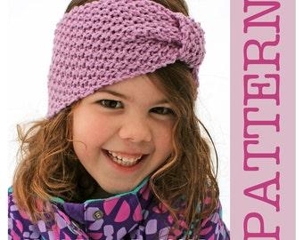 KNITTING PATTERN - Moss & Willow Headband - Instant Download/ PDF Pattern / Winter Headband Knit Pattern
