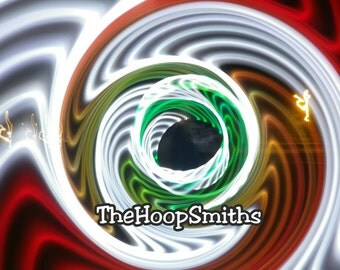 LED Hula Hoop Polypro HDPE Quad Melt Color Changing By TheHoopSmiths