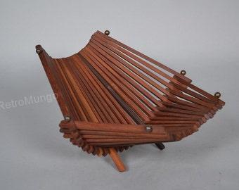 Teak wooden fruit  basket / stand /  fruit bowl  - Mid Century Design- - 60s Teak Era