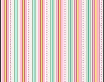 Fabric by the Yard Art Gallery, Bubblegum Stripe 1 YD
