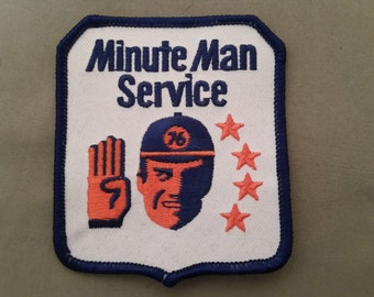 minute man service embroidered patch