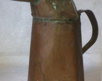 "Handmade 12"" Copper Pitcher"