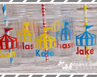 Circus Birthday Party Cups-Favor Cups-Souvenir Cups
