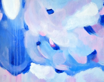 Abstract Acrylic Painting, Perwinkle