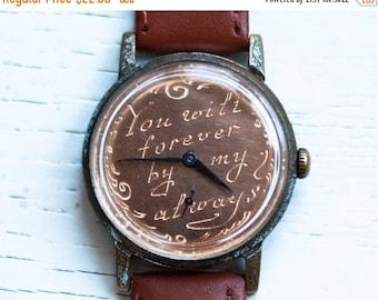 "Engravable watch, Vintage Watch ,Personalized watch ,Soviet watch ,minimalist watch, watch men ,Russian watch ,mens watch ""Pobeda"""