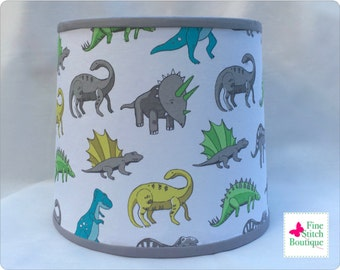 Dinosaurs BABY NURSERY LAMPSHADE - Baby Boy Nursery Lampshade - Baby Nursery Decor - Cylindrical Lampshade - Made-To-Order