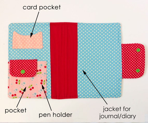 Notebook Cover Sewing Pattern : Journal cover sewing pattern diary
