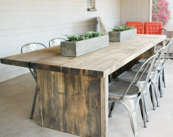 The BOSS- Reclaimed Wooden Indoor/Outdoor Rustic Table made from Spalted Silver Pine or Hackberry