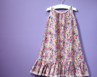 Girls  Maxi Gown, sizes 2,3,4,5,6, custom-made