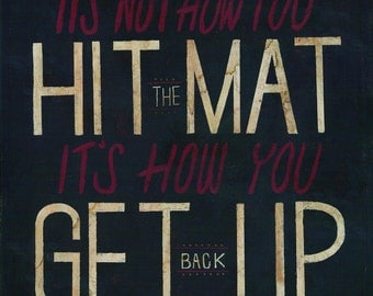 """Daredevil-inspired art print """"It's Not How You Hit the Mat - It's How You Get Back Up"""""""