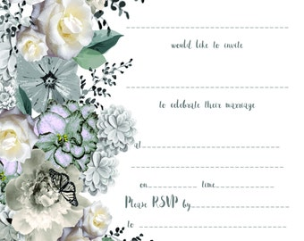 Write Your Own - FLAT INVITATION - Midnight Garden