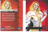White Queen: Emma Frost. #51. 1995 Fleer Ultra trading card. Like New. Artist Julie Bell.