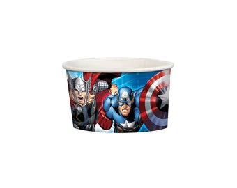 Marvels Avengers Ice Cream Treat Paper Cups, Party Supplies