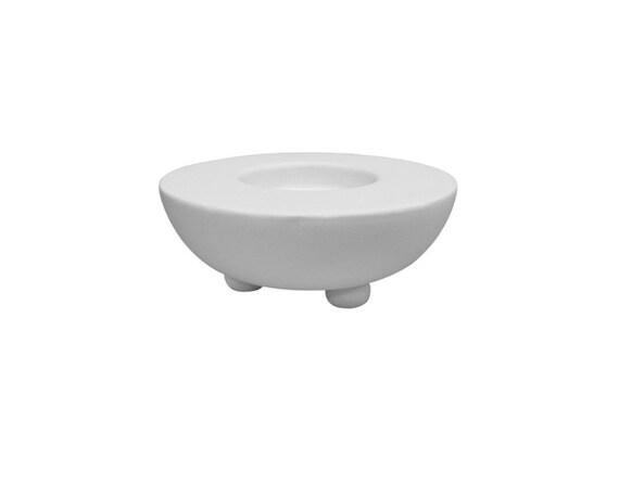 Tea light votive holder ceramic bisque paintable pottery for Bisque ceramic craft stores