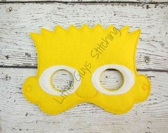 Cartoon Kid, Cool Dude, Costume, Theater, Halloween, Dress up, Childrens Pretend Play, Face mask