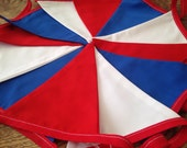 Red White and Blue Bunting, Patriotic, Party, Birthday, Celebration, Handmade Fabric Bunting