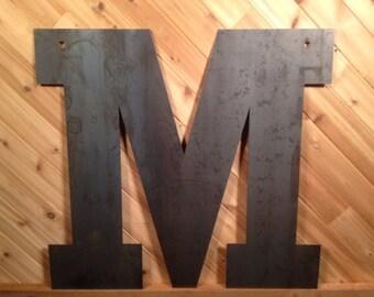 Large Metal Letter M Large Metal Letter M  Etsy