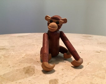 Mid Century wooden monkey