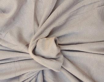 Stone Modal Spandex 2x1 Rib Fabric by the Yard 4 Way Stretch 7/16