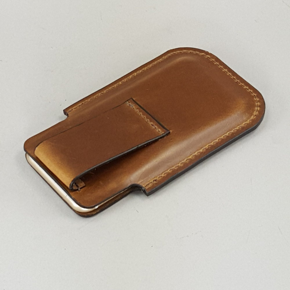 chestnut brown leather iphone 5 se holster w belt loop for