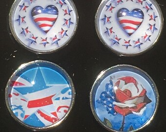 All American Snap Charms