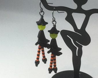 Witchy Earrings, Witch Earrings, Halloween, Halloween Earrings