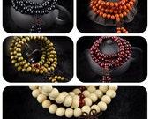 Mala Meditation 108 Sandalwood Beaded Bracelets - 4 colours