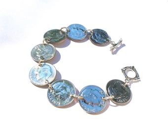 Dime Bracelet, Coin Jewelry