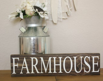 Farmhouse wood sign decor
