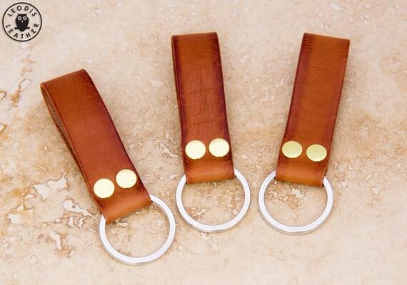 Leather Keyring (medium brown)